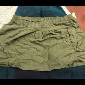 Old navy army green skirt